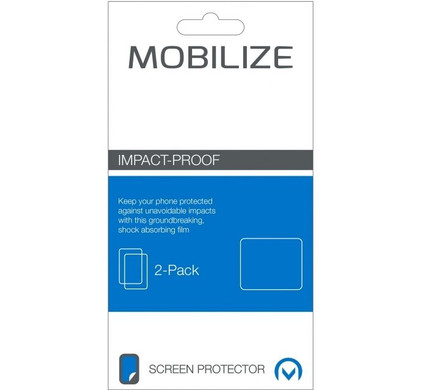 Mobilize Impact Proof Screenprotector BlackBerry DTEK50 Duo Pack