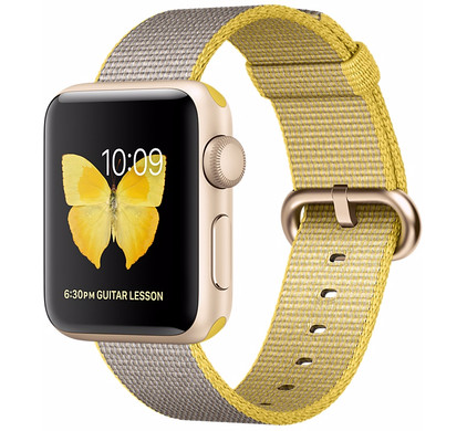 Apple Watch Series 2 38mm Goud Aluminium/Lichtgrijs Nylon