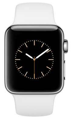 Apple Watch Series 2 38mm Roestvrij Staal/Witte Sportband