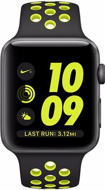 Apple Watch Nike+ 38mm Spacegrijs Aluminium/Zwart Volt Sportband