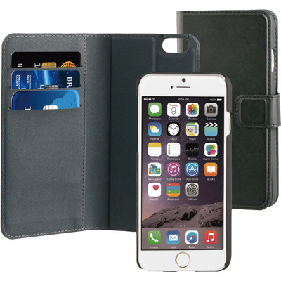 Image of BeHello 2-in-1 Wallet Case Apple iPhone 6/6S Zwart