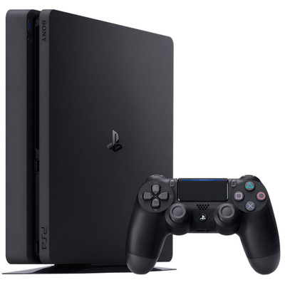 Image of Playstation 4 Slim (Black) 500GB (+ Extra Dual Shock Controller)