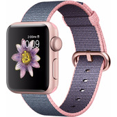 Apple Watch Series 2 38mm Rosegoud Aluminium/Lichtroze Middernacht Nylon
