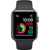 Apple Watch Series 2 38mm Spacegrijs Aluminium/Zwarte Sportband