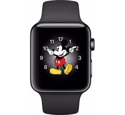 Apple Watch Series 2 42mm Space Zwart Roestvrij Staal/Zwarte Sportband