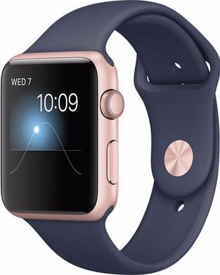 Apple Watch Series 2 42mm Rosegoud Aluminium/Middernachtblauwe Sportband