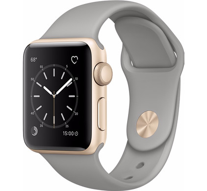Apple Watch Series 2 38mm Goud Aluminium/Betongrijze Sportband