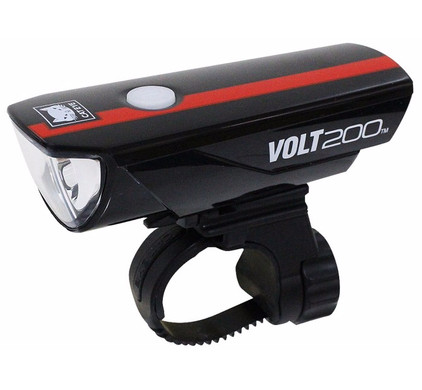 Cateye Volt200 HL-EL15RC Zwart/Rood
