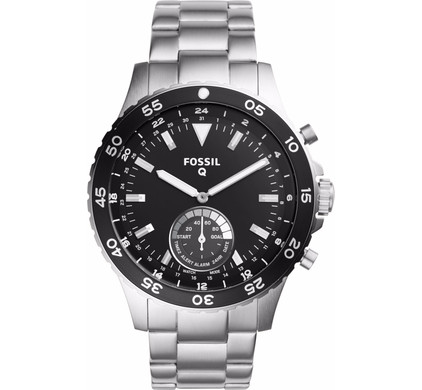 Fossil Q Crewmaster Hybrid Zilver
