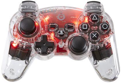 Bigben Draadloze Controller Transparant PS3 Rood