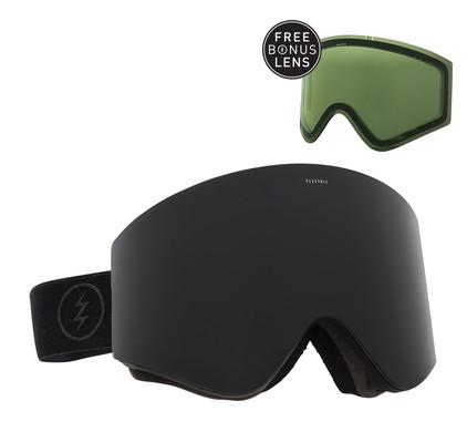 Electric EGX Matte Black + Jet Black & Light Green Lenzen