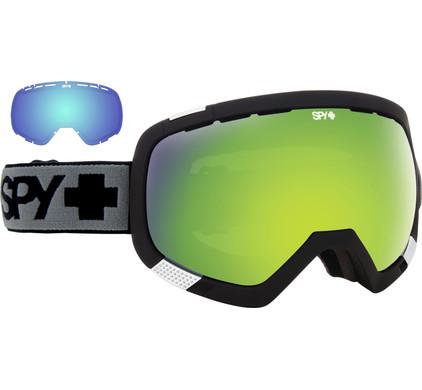 SPY Platoon Matte Black + Green Spectra & Yellow Contact Lenzen