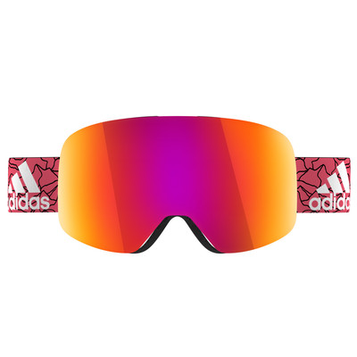 Image of Adidas Backland White Shiny + Purple Mirror Lens