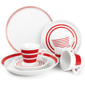 S&P Serviesset 20-delig Stripes Rood
