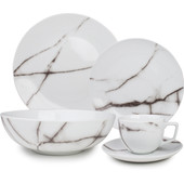 S&P Serviesset 20-delig Marble