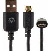 Mobilize Charge/Sync Kabel Reversible Micro-USB Zwart
