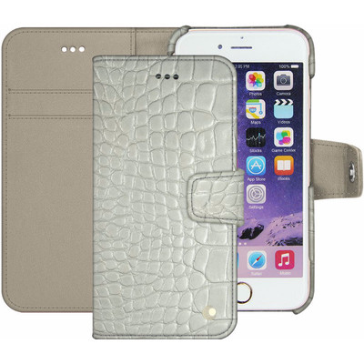 Noreve Tradition B Crocodile Leather Case Apple iPhone 7 Plus Wit