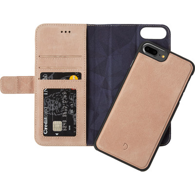 Image of Decoded Leather 2-in-1 Wallet Case Apple iPhone 6 Plus/6s Plus/7 Plus Rose Gold