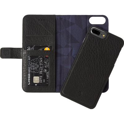 Image of Decoded Leather 2-in-1 Wallet Case Apple iPhone 6 Plus/6s Plus/7 Plus Zwart