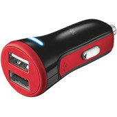 Trust Urban 20W Autolader Dual USB Rood