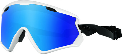 Oakley Wind Jacket 2.0 White + Prizm Sapphire Iridium Lens