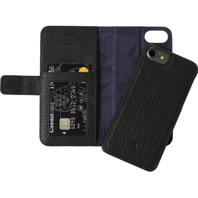 Image of Decoded Leather 2-in-1 Wallet Case Apple iPhone 6/6s/7 Zwart