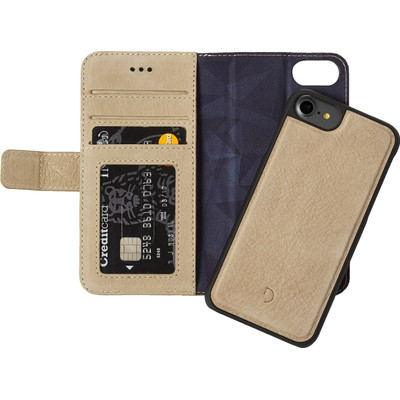 Image of Decoded Leather 2-in-1 Wallet Case Apple iPhone 6/6s/7 Lichtbruin
