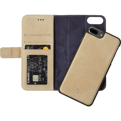 Image of Decoded Leather 2-in-1 Wallet Case Apple iPhone 6 Plus/6s Plus/7 Plus Lichtbruin