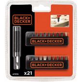 Black & Decker 21-delige bitset A7074-XJ