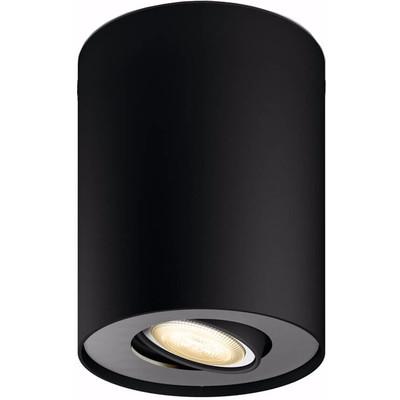 Philips Hue Pillar Single Spot Zwart met Dimmer