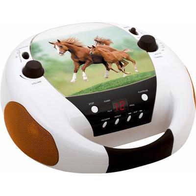Image of Bigben Draagbare CD-speler Paarden Oranje