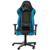 DX Racer RACING Gaming Chair Zwart/Blauw