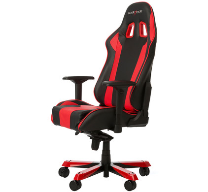 DX Racer KING Gaming Chair Zwart/Rood