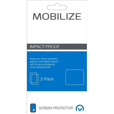Mobilize Screenprotector HTC One A9s Impact Proof Duo Pack