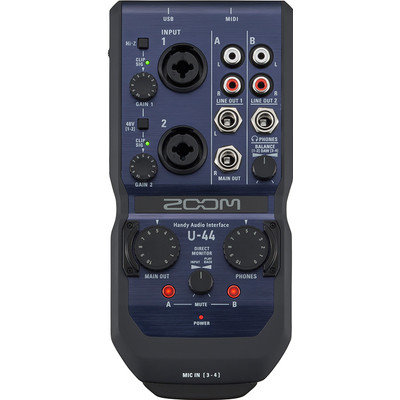 Image of Audio interface Zoom U-44 Incl. software, Monitor-controlling
