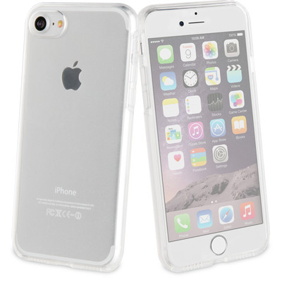 Muvit Glass Met Back Cover Apple iPhone 7 Zwart