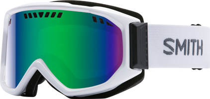 Smith Scope Pro White + Green Sol X Lens