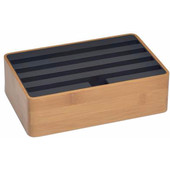 Alldock Docking Station Medium Bamboe Zwart