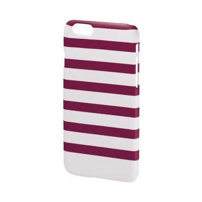 Hama Cover Stripes iPHone 6 paars/wit