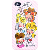 Blond Amsterdam I Love My Friends Softcase Apple iPhone 4/4S