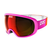 POC Fovea Fluorescent Pink + Permission Red Mirror Lens