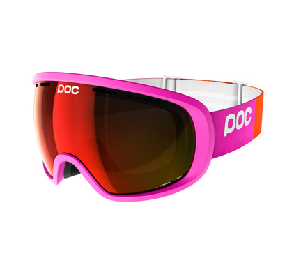 POC Fovea Fluorescent Pink + Permission Red Mirror Lens