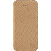 Mobilize Slim Gelly Booklet Apple iPhone 5/5S/SE Soft Snake Beige