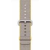 Apple Watch 42mm Polsband Nylon Geel/Lichtgrijs