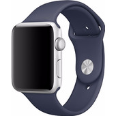 Apple Watch 42mm Polsband Sport Middernachtblauw