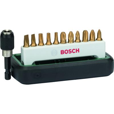 Image of Bitset 12-delig Bosch 2608255991 Plat, Kruiskop Phillips, Kruiskop Pozidriv, Torx