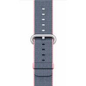 Apple Watch 38mm Polsband Nylon Lichtroze/Middernachtblauw