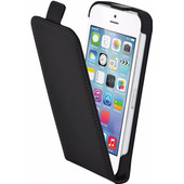 Mobiparts Premium Flip Case Apple iPhone 5/5S/SE Zwart