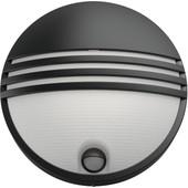 Philips myGarden Yarrow Wandlamp Zwart met Bewegingssensor