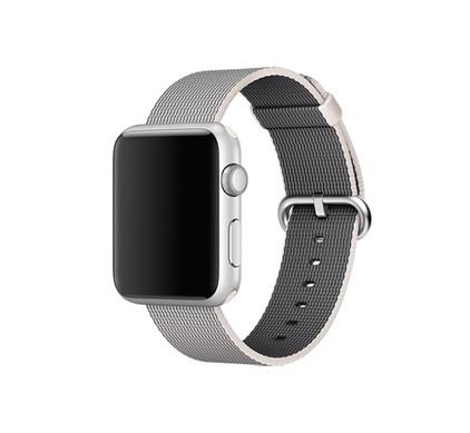 Apple Watch 38mm Polsband Nylon Parelgrijs